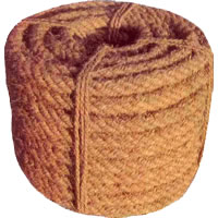 Coir Ropes - 4 Ply, Machine Spun Coir Rope